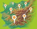 Carte Région Pays des Vosges